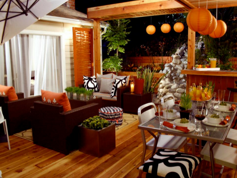 orangy interior design for a great home